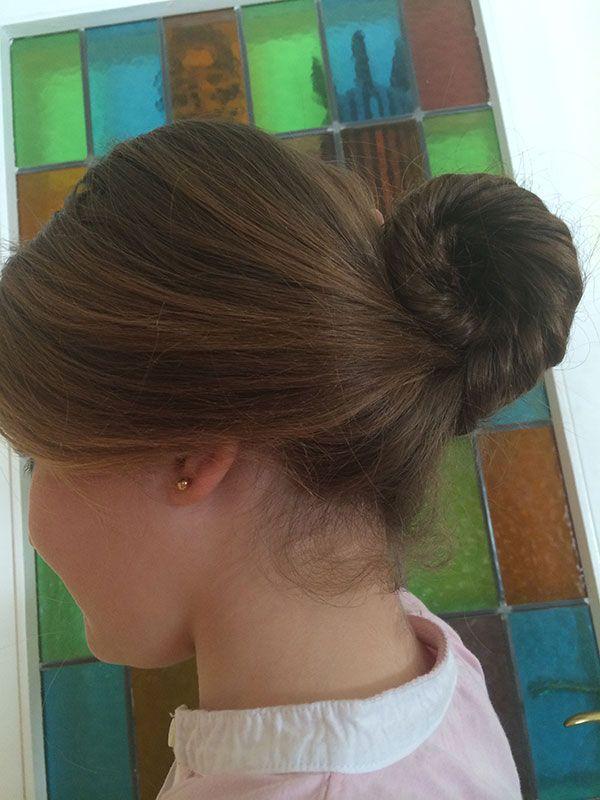 Peinado moño espiral