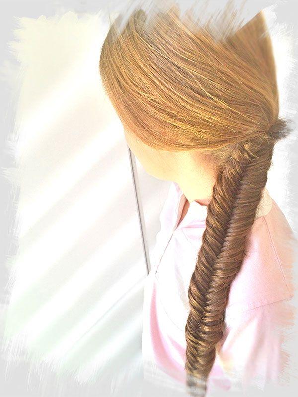 Peinado trenza de espiga