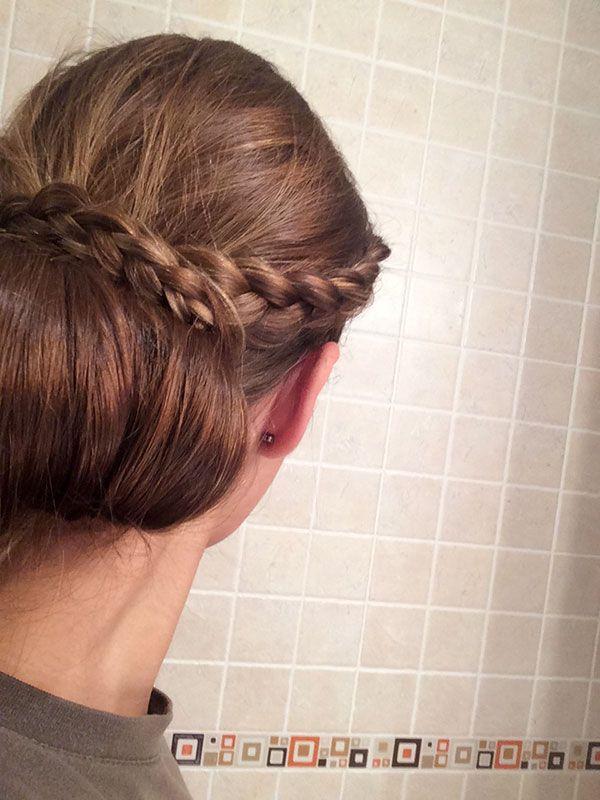 Recogido clásico – Peinado de prueba para novias