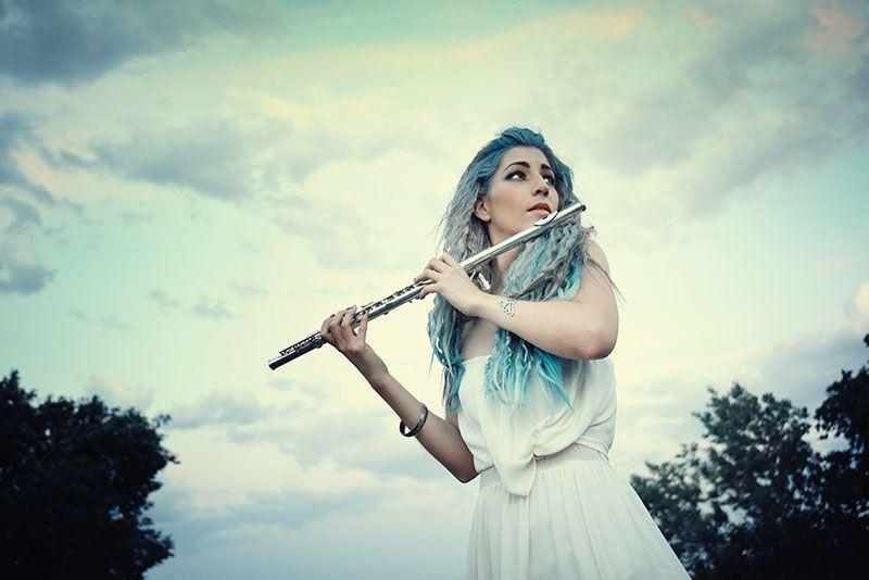 Sesión de fotos – Ninfa del bosque con flauta