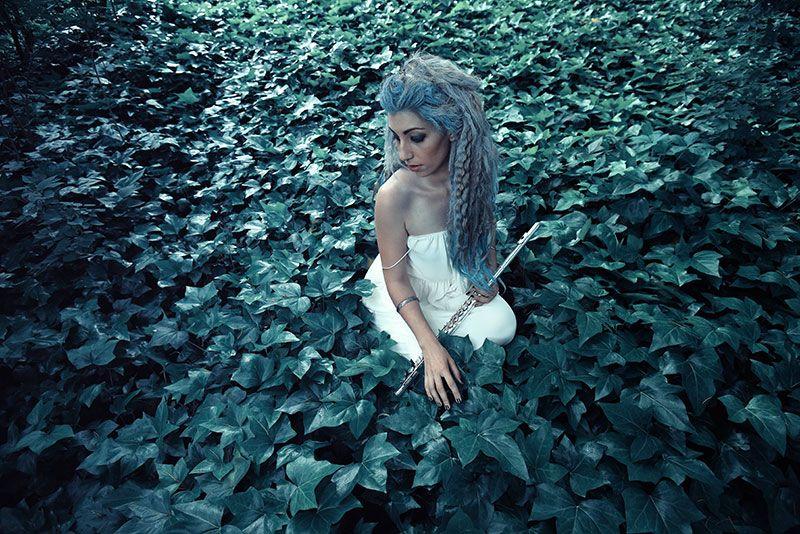 Sesión de fotos – Ninfa del bosque inspirada en un Ángel