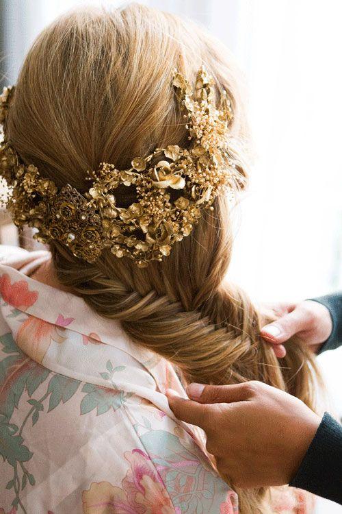 Trenza de espiga peinado para novias y bodas esther otero for Trenza boda